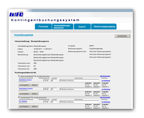 Info Networking GmbH - Kontingentbuchungssystem